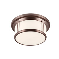 Woodward 3 Light 17 inch Chocolate Flush Mount Ceiling Light in Standard
