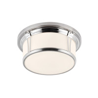 Feiss FM389PN Woodward 3 Light 17 inch Polished Nickel Flush Mount Ceiling Light in Standard