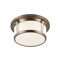 Feiss FM389SBZ Woodward 3 Light 17 inch Satin Bronze Flush Mount Ceiling Light in Standard