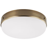 Feiss FM391DAB Cadence 3 Light 16 inch Dark Antique Brass Flush Mount Ceiling Light