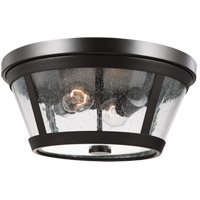 Feiss FM393ORB Harrow 2 Light 14 inch Oil Rubbed Bronze Flush Mount Ceiling Light in Standard