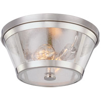 Harrow 2 Light 14 inch Polished Nickel Flush Mount Ceiling Light in Standard