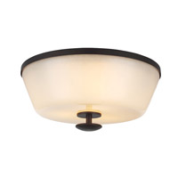 Huntley 3 Light 14 inch Oil Rubbed Bronze Flush Mount Ceiling Light in Standard
