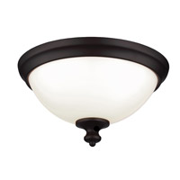 Parkman 2 Light 13 inch Oil Rubbed Bronze Flush Mount Ceiling Light in Standard