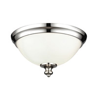 Parkman 2 Light 13 inch Polished Nickel Flush Mount Ceiling Light in Standard