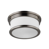 Feiss FM399BS Payne 2 Light 13 inch Brushed Steel Flush Mount Ceiling Light in Standard