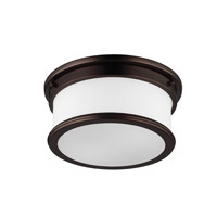Feiss FM399DPZ Payne 2 Light 13 inch Dark Plated Bronze Flush Mount Ceiling Light in Standard