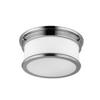 Feiss FM399PN Payne 2 Light 13 inch Polished Nickel Flush Mount Ceiling Light in Standard
