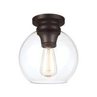 Feiss Tabby 1 Light Flush Mount in Oil Rubbed Bronze FM403ORB-F