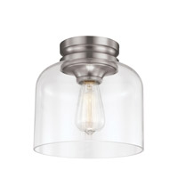 Feiss Hounslow 1 Light Flush Mount in Brushed Steel FM404BS-F
