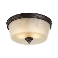 Feiss Arbor Creek 2 Light Flushmount in Arbor Bronze and Weathered Brass FM406AZ/WBR