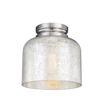 Feiss FM408PN Hounslow 1 Light 9 inch Polished Nickel Flush Mount Ceiling Light in Silver Mercury Plating Glass