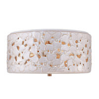 Feiss Azalia LED Flush Mount in White Taupe Ceramic / Beach Wood FM410WTPC/BD-LA