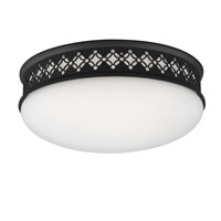 Devonshire 2 Light 10 inch Oil Rubbed Bronze Flush Mount Ceiling Light in Integrated LED