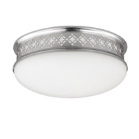 Devonshire 2 Light 10 inch Polished Nickel Flush Mount Ceiling Light in Integrated LED