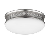 Devonshire 2 Light 10 inch Satin Nickel Flush Mount Ceiling Light in Integrated LED