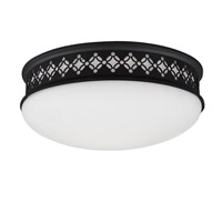 Devonshire 2 Light 13 inch Oil Rubbed Bronze Flush Mount Ceiling Light in Standard