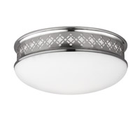 Devonshire 2 Light 13 inch Polished Nickel Flush Mount Ceiling Light in Integrated LED