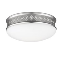 Devonshire 2 Light 13 inch Satin Nickel Flush Mount Ceiling Light in Integrated LED