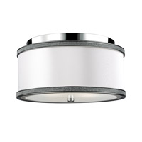 Pave 2 Light 13 inch Polished Nickel Flush Mount Ceiling Light in Standard