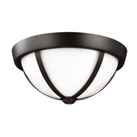 Amato 2 Light 14 inch Oil Rubbed Bronze Flush Mount Ceiling Light in Standard