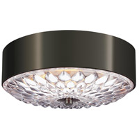 Botanic 3 Light 14 inch Aged Pewter Flush Mount Ceiling Light in Standard