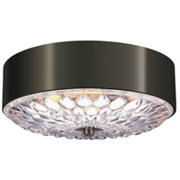 Botanic 3 Light 16 inch Aged Pewter Flush Mount Ceiling Light in Standard