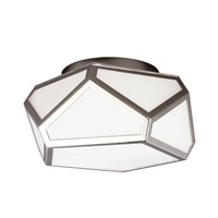 Diamond 2 Light 13 inch Polished Nickel Flush Mount Ceiling Light in Standard