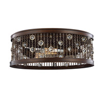 Colorado Springs 2 Light 16 inch Chestnut Bronze Flush Mount Ceiling Light in Standard