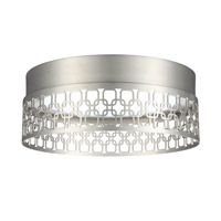 Feiss Amani Flush Mount in Satin Nickel FM454SN