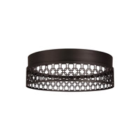 Feiss Amani LED Flush Mount in Oil Rubbed Bronze with White Acrylic Light Guide FM500ORB-LED