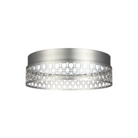 Feiss Amani LED Flush Mount in Satin Nickel with White Acrylic Light Guide FM500SN-LED