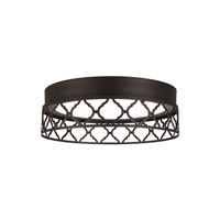 Feiss Amani LED Flush Mount in Oil Rubbed Bronze with White Acrylic Light Guide FM501ORB-LED