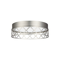 Amani LED 13 inch Satin Nickel Flush Mount Ceiling Light