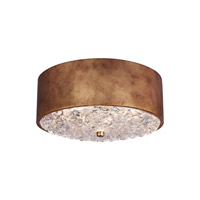 Dori 2 Light 13 inch Antique Burnished Brass Flush Mount Ceiling Light