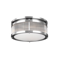 Paulson 3 Light 15 inch Chrome Flush Mount Ceiling Light