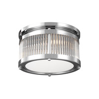 Feiss FM516CH Paulson 2 Light 11 inch Chrome Flush Mount Ceiling Light