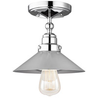 Feiss FM525CH Hooper 1 Light 9 inch Chrome Flush Mount Ceiling Light