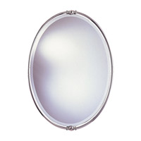 Feiss MR1044PN New London 33 X 24 inch Polished Nickel Wall Mirror