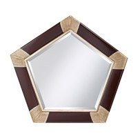 Feiss Penelope Mirror in Mahogany  and Antique Silver MR1120MHG/ASL
