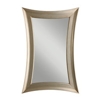 Georgette 45 X 30 inch Antique Silver Leaf Wall Mirror