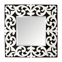 Feiss Pauline Mirror in Black and White Matte MR1129BK/WM