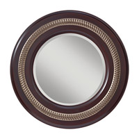 Feiss Saxon Mirror in Mahogany  and Antique Silver MR1166MHG/ASL