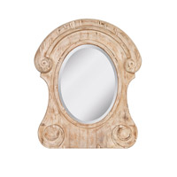 Signature 36 X 30 inch Distressed Ivory Mirror Home Decor