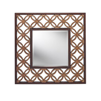 Signature 37 X 37 inch Heritage Bronze and Parissiene Gold Mirror Home Decor