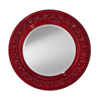 Signature Crimson Lacquer Mirror Home Decor