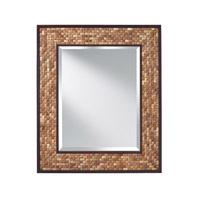 Weave 37 X 31 inch Natural Coconut & Kona Mirror Home Decor