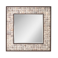 Signature 41 X 41 inch White Wash Coconut Mirror Home Decor