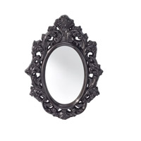 Resplendent 32 X 25 inch High Gloss Black Mirror Home Decor
