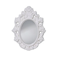 Resplendent 32 X 25 inch High Gloss White Mirror Home Decor